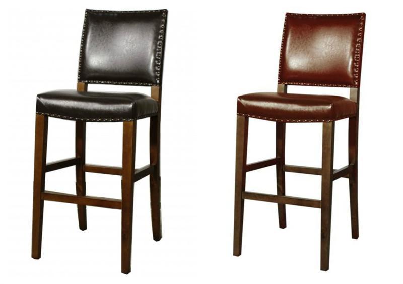 Rowan Leather Bar Height Stool